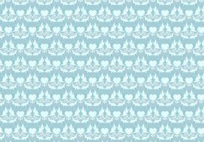 Himmelblå Vektor Västra Blommönster