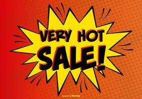 Komisk stil varm försäljning illustration vektor