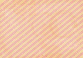 Pfirsich Striped Grunge Vektor Hintergrund