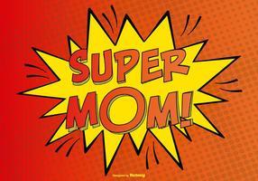 Komisk super mamma illustration vektor