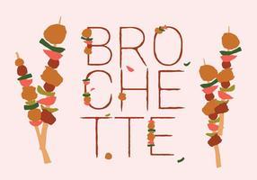 Freier bunter Brochette Nahrungsmittelvektor