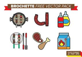 Brochette free vector pack