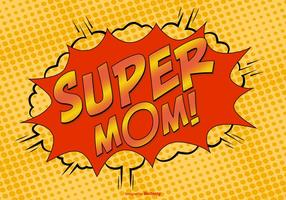 Komisk stil super mamma illustration vektor