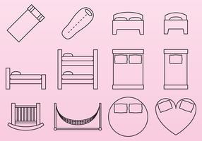 Säng ikoner vektor