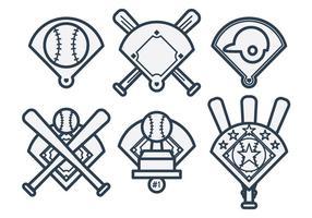 Baseball-Diamant-Vektor