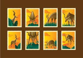 Retro Kudu Stempel Vektoren Zwei