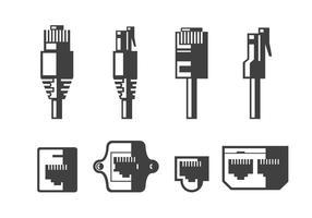 Ethernet-kabel och portvektorer