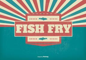 Fisk yngel retro illustration