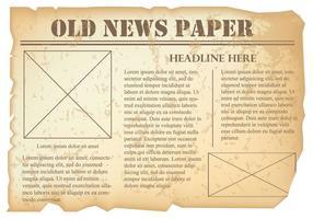 Gammal tidningsvektor