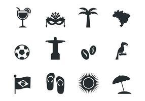 Kostenlose Brasilien Icons Vektor