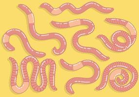 Free Earthworm Icons Vektor