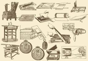 Antik fotoprocess vektor