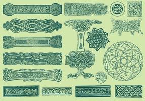 Keltische Trennwände und Ornamente
