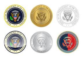 Freies Präsidenten-Siegel-Logo-Vektor