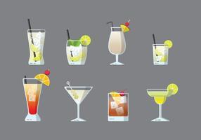 Kostenlose Cocktails Vektor