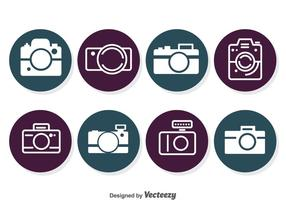 Kamera-Kreis-Ikonen