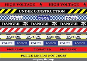 Gefahr Band Sammlung Vektor