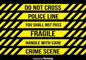 Polizei Tape Sammlung Vektor