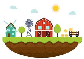 Freier Bauernhof-Vektor vektor