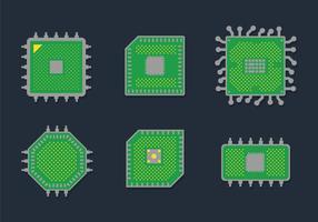 Mikrochip-Vektor vektor