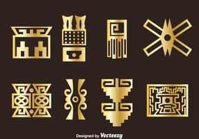 Golden Incas Ikoner Vector