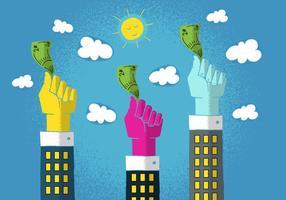 Hände winken Geld vektor