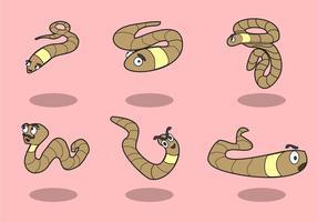 Tecknad Earthworm Vector
