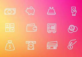 Kostenlose Finanzen Geld Icons Vektor