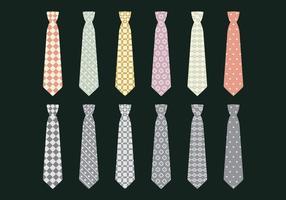 Vektor ikonuppsättning slips