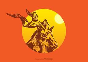 Kostenlose Kudu Vektor-Illustration vektor