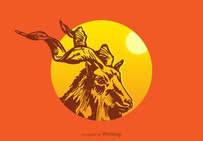 Kostenlose Kudu Vektor-Illustration