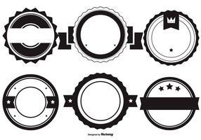 Blank Vector Abzeichen Formen