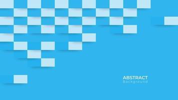 abstrakter moderner blauer Rechteckhintergrund vektor