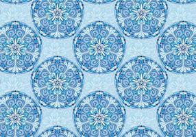 Blå Vektor Färgglatt Mandala Mönster