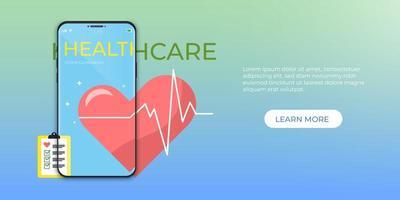 online medicinsk vård vektor
