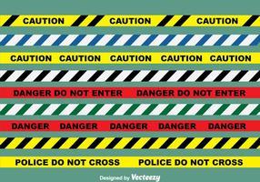 Danger Line Vektor Set