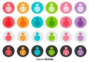 Vektor uppsättning av person ikon knappar