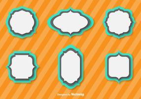 Einfache Vektor Flat Cartouches für Abzeichen