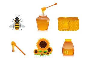 Freier Honig Vektor