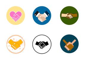Free Handshake arbeiten zusammen Vektor