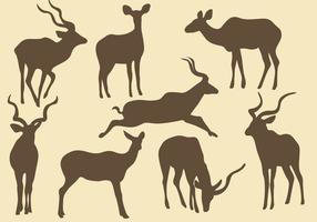 Kudu silhuetter vektor