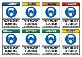 Gesichtsmasken erforderlich