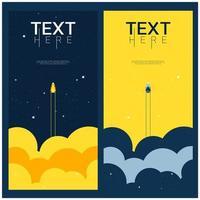 blauer und gelber Raum erforschen den Universumhintergrund vektor