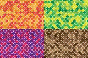 Satz arabische nahtlose Muster