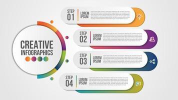 Infografik Design für Unternehmen mit 4 Schritten vektor