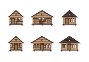 Fin shack vektor set