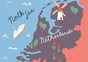 Färgglada Hollandsk karta