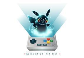 Pokemon Spiel Junge Vektor
