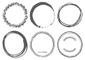 Handdragen cirkelvektorformer