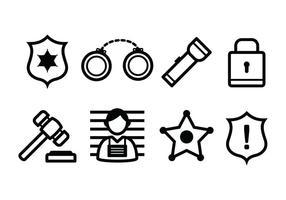 Kostenlose Polizei und Verbrechen Icons vektor